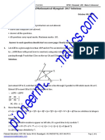 Regional Mathematical Olympiad - 2017 Solutions
