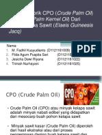 Industri Pabrik CPO (Crude Palm Oil)