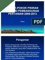 Visimisi Pembangunan Pertanian 2009-2013