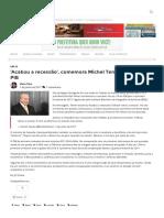 'Acabou a Recessão', Comemora  Michel Temer Após Alta Do PIB – Farol de Notícias – Referência Em Jornalismo de Serra Talhada e Região