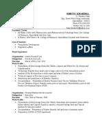 Shruti Resume