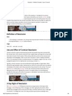 Rescission - Definition, Examples, Cases, Processes