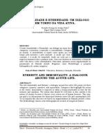 IMORTALIDADE E ETERNIDADE - UM DIALOGO EM TORNO DA VIDA ATIVA. Ricardo George de Araujo Silva.pdf