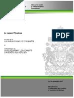 Le Rapport Trudeau en  vertu de  la  loi sur les conflits d'intérêts