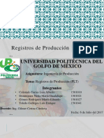 Registros de Produccion (PLT)