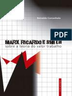 CARCANHOLO - Marx Ricardo e Smith - Sobre a Teoria Do Valor Trabalho