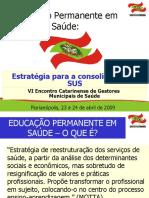 Politicas de Educacao Permanente em SC - Flavio Magajewski.ppt