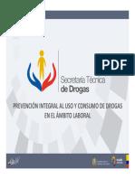 Unidad 3 Curso SETED Drogas ambito laboral Ecuador