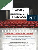 Lecon 1 - H2 Initiation Filmologie Analyse