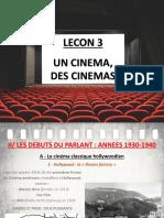 Lecon 3 - Des Cinemas H6 (L'âge classique d'Hollywood)