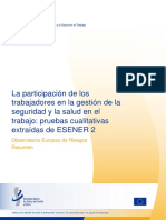 Summary Worker Participation ESENER 2 ES