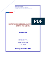 Sectorización de Los Acuíferos de La Cuenca Del Río Loa