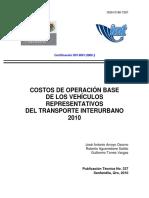 Costos de Operacion Vehicular
