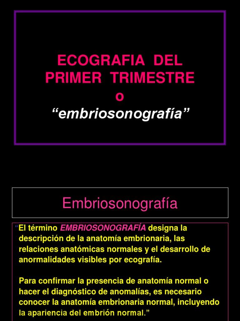 Ecografia de Primer Trimestre