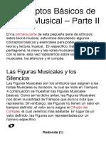 Conceptos Básicos de Teoría Musical – Parte II