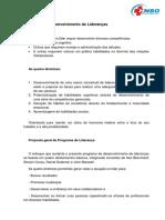 Programa de Desenvolvimento de Lideranças 2018