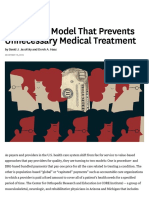A Payment Model That Prevents Unnecessary Medical Treatment