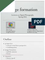 Formación de imágenes - Conferencias sobre fotografía digital