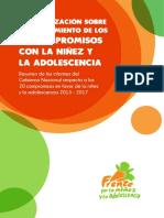 Sistematización sobre el cumplimiento de los 20 compromisos con la niñez y la adolescencia