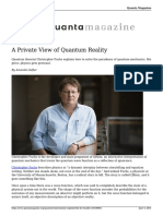 A Private View of Quantum Reality