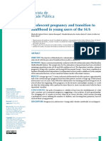 Adolescent Pregnancy and Transition To