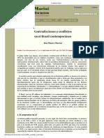 Contradicciones y conflictos en el Brasil contemporáneo