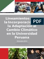 Universidad y Cambio Climático Per