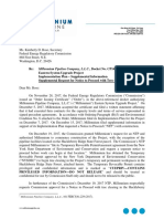 Millennium Pipeline Company, L.L.C., Docket No. CP16-486-000 Eastern System Upgrade Project Implementation Plan – Supplemental Information Supplemental Request for Notice to Proceed with Tree Clearing