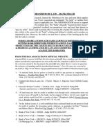 Memorandum of Law – Bank Fraud