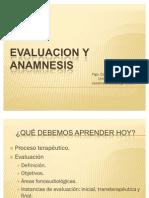 Evaluacion y Anamnesis 18 Agosto