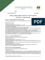 TD II — L'Ordonnancement en Temps Réel