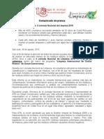 Inicia  II Jornada Nacional de Limpieza 2010 (comunicado de prensa)