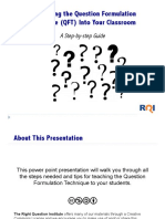 Introducing the QFT Into Your Classroom Practice