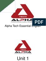 Alpha Tech Essential English Material