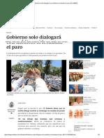 Gobierno Solo Dialogará Con Médicos Si Levantan El Paro _ EL DEBER