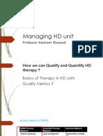Managing HD Unit
