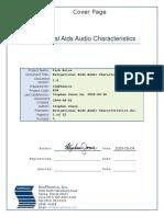 Navigational Aids Audio Characteristics