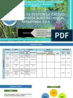 Sistema de Gestion de Calidad de La Empresa Agro Industrial Paramonga Saa.- Grupo Nª5.