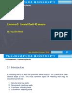 Lesson 3 Lateral Earth Pressure 1