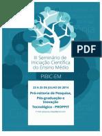 III Seminario Pibic-em - 2014