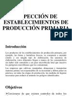 Inspección de Establecimientos de Producción Primaria