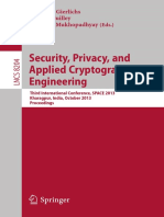 (Lecture Notes in Computer Science 8204) Patrick Schaumont, Aydin Aysu (Auth.), Benedikt Gierlichs, Sylvain Guilley, Debdeep Mukhopadhyay (Eds.)-Security, Privacy, And Applied Cryptography Engineering