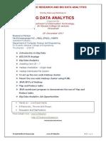 One Day State Level Workshop on  BIG DATA ANALYTICS