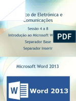 Apresentação - Word 2013