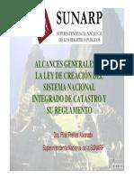 ALCANCES GENE.DE LA LEY DE CREACÓN DEL SISTEMA NACIONAL INTEGRADO DE CATASTRO Y SU REGLAMENTO.pdf