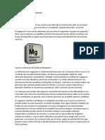 Magnesio en La Medicina