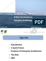 Introduction to Enterprise Architecture Dbanger 160217