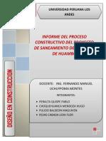 Informe Del Proceso Constructivo Del Proyecto de Saneamiento