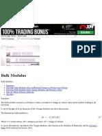 Bulk Modulus – My DataBook