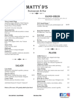 matty d menu- dec 2017